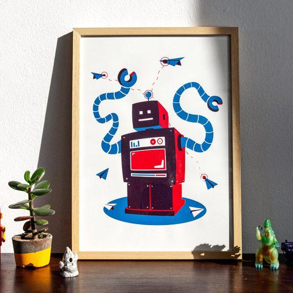Robot zeefdruk a3